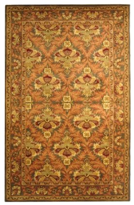 Traditional Rug - Antiquity Wool Pile -Sage/Gold Sage/Gold/Traditional/10'L x 2' 3''W/Runner