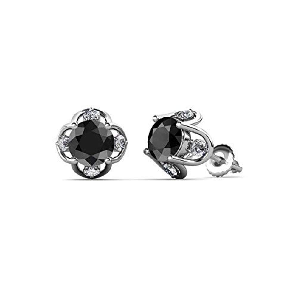 SjSilver Jewels 14K Gold Plated Simulated Diamond Studded Designer Sparking Star Stud Earrings