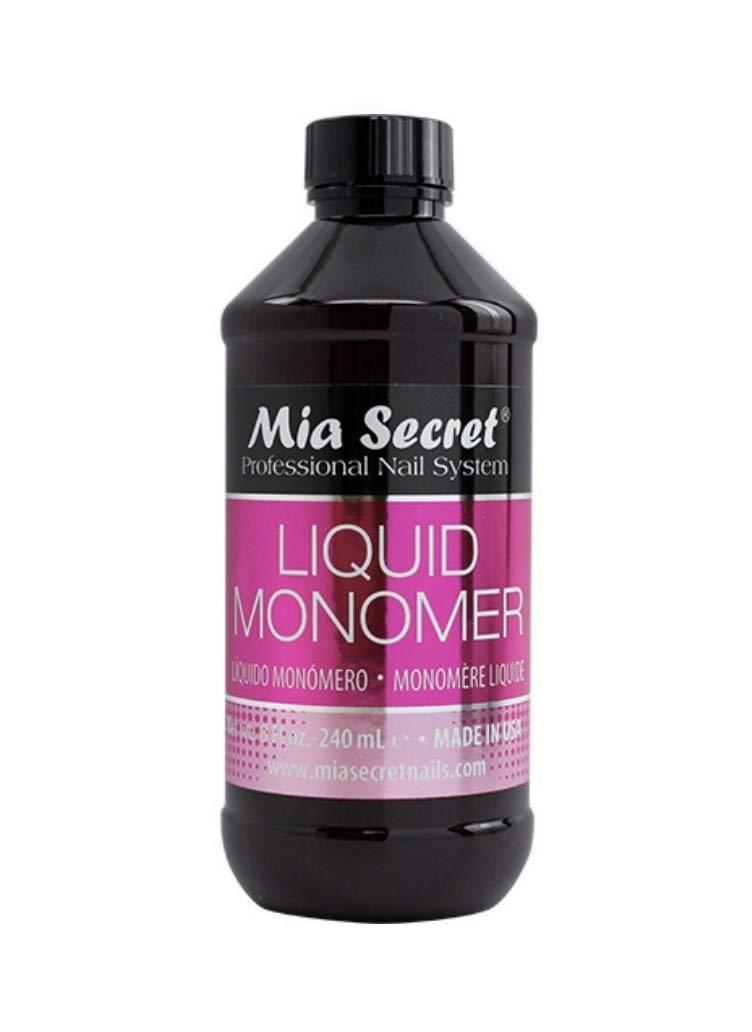 1 MIA SECRET 8 oz / 240ml LIQUID MONOMER PROFESSIONAL ACRYLIC NAIL SYSTEM