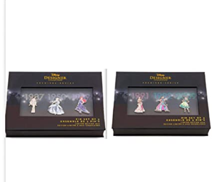 40cc7cae9 Amazon.com: Disney Princess Pin Set Designer Collection Set One AND Set Two  Limited Edition: Everything Else