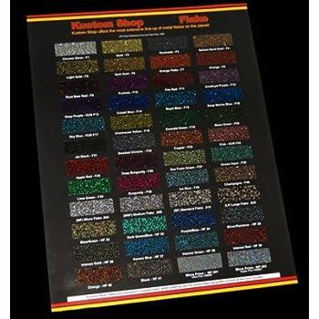 Amazon Custom Shop 48 Color Chart Flake Chart Automotive