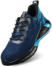 Säkerhetsskor S3 arbetsskor för män kvinnor med tåhätta i stål Sommarsäkerhetsskor för sneakers Sportiga skyddande skor