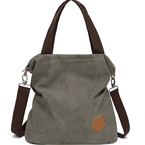 For Myhozee Tote Women Casual Gray Women Canvas Handbag Top Beach Multifunction Crossbody Shopping Bag vintage gray Shoulder Bags Ladies Handle Hobo rnarSP7x