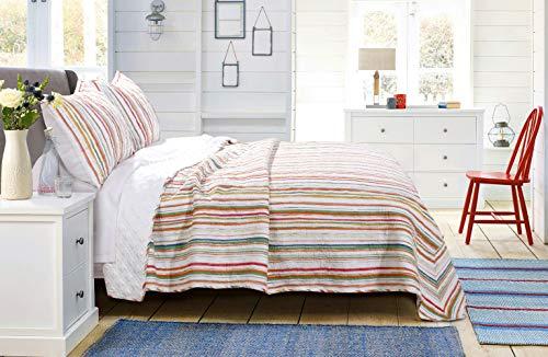 Greenland Home Sunset Stripe Quilt Set, King, Cabana