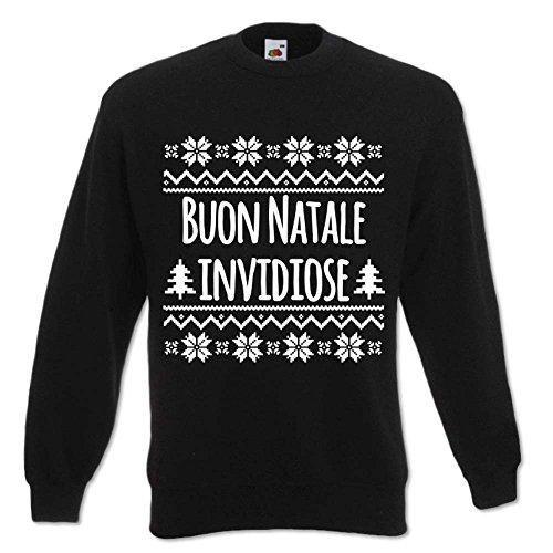 Felpa Buon Unisex Nero Regalo Natale Invidiose L Babloo Cappuccio Natalizia Idea FgxOWn