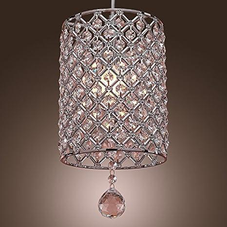 Glighone Lámpara Colgante Cristal 40W Lámpara de Techo Luz Moderna Lámpara de Araña Iluminación Contemporáneo Elegante No Incluye Bombillas