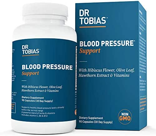 Dr Tobias Blood Pressure Support - Herbs & Vitamin Supplement (90 Capsules)