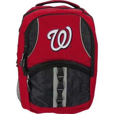 The Northwest Company Washington Nationals Backpack Captain Style Red and Black (Washington Memorabilia Nationals)