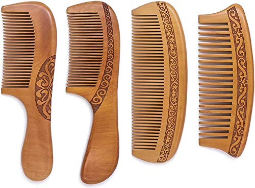 Wooden Anti Static Detangling Mustache Natural product image