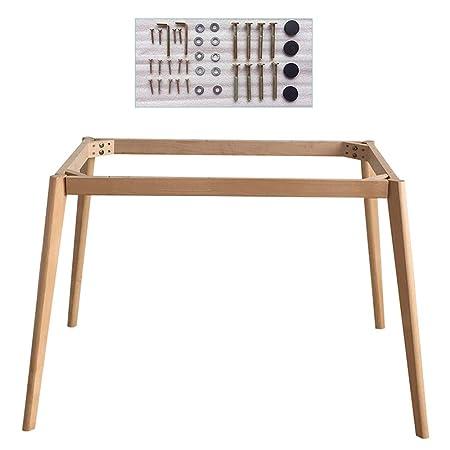 JWZQ Patas de mesa de troncos, soporte de mesa multifunción, Patas ...