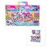 Shopkins Cutie Cars Spa Wash Playset and Color Change Cutie Car QT3-C09 TV Traveler