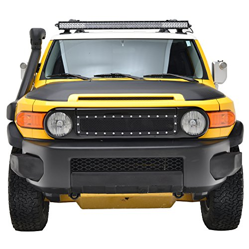 Grille Toyota Fj Cruiser - E-Autogrilles 07-14 Toyota FJ Cruiser Grille Rivet Stainless Steel Wire Mesh Grill