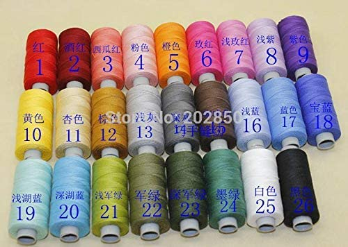 Laliva Hilo de algodón 100%, hilo para máquina de coser o de ...