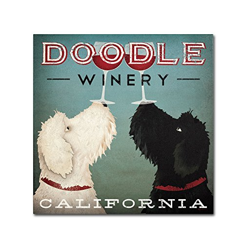 Ad Canvas Frame - Doodle Wine Artwork by Ryan Fowler, 18 by 18-Inch Canvas Wall Art