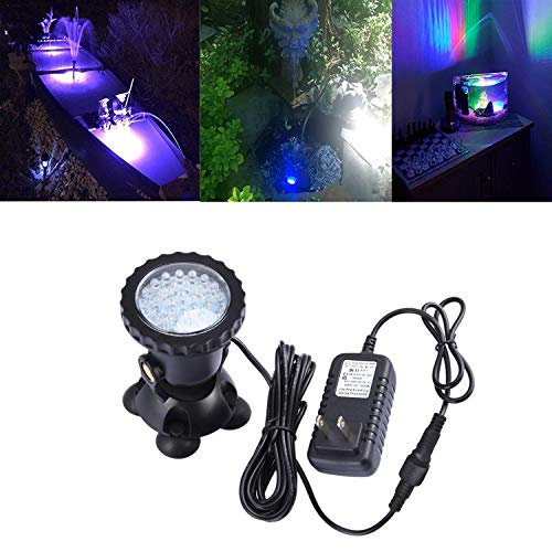 COVOART Luz Submarina, IP68, Impermeable Sumergible Luz con 36 LED Auto Color Cambiador Foco Luz para Estanque Piscina Tanque...