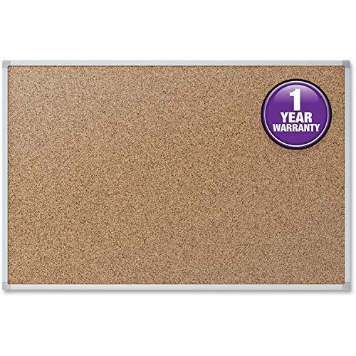 Cork Bulletin Board, 48 x 36, Silver Aluminum Frame, Sold as 1 Each ()