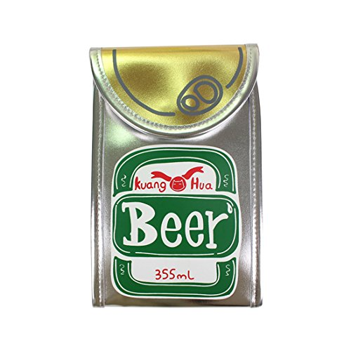 Kuang 2017 Summer Womens Unique Pop-top Can Design Phone Purse Cross Body Bag (Beer)