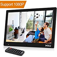 MRQ 14.1 Inch Digital Photo Frame, 1280x800 HD Picture Video(1080P) Frame with Hu-Motion Sensor, MP3, E-book, Calendar, Alarm, supports Multiple File Formats and External USB and SD Card-Black