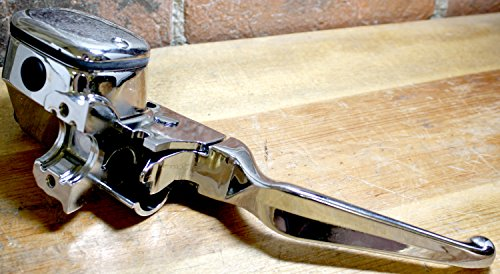 Superior Dixie Distributing 45013-96CP Chrome Handlebar Brake Lever Master Cylinder Assembly Harley Davidson