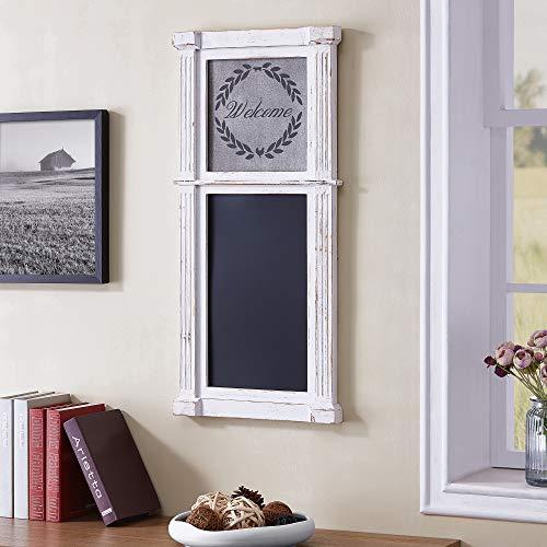 FirsTime & Co. 70057 Whitewash Wreath Chalkboard, 34.5