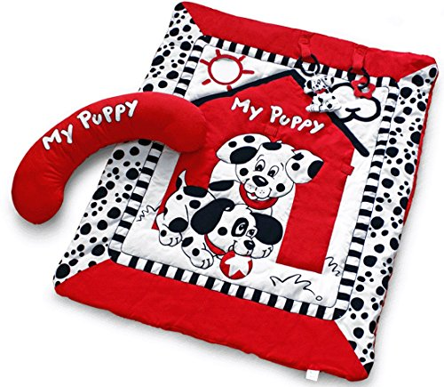 Black, White & Red Prop-up Puppy Tummy Time Activity Playmat Review