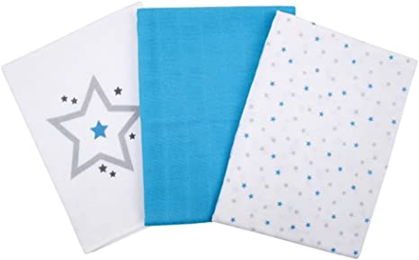 Bebé de 3 Toallitas Pack Aqua 100% algodón Mull Toalla Gasas: Amazon.es: Bebé