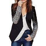 NiSeng Women Long Sleeve Office Blazer Suit Jacket Outerwear Coats Solid Stylish Jacket