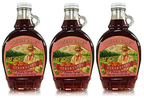 Pioneer Valley Gourmet Strawberry Fancy Syrup 11.5 oz. - 3 pack