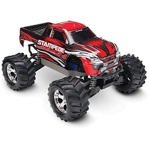 Traxxas 67054-1 Stampede 4X4: Monster Truck, Ready-To-Race (1/10 Scale), Colors May Vary