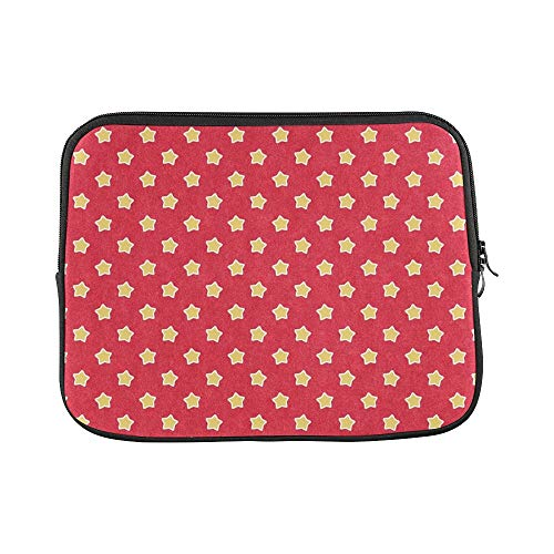 Design Custom Pattern Felt Paper Red Yellow Star Sleeve Soft Laptop Case Bag Pouch Skin for MacBook Air 11