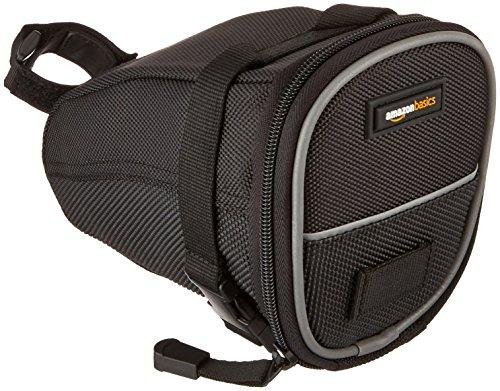 Bag Saddle (AmazonBasics Strap-On Wedge Saddle Bag for Cycling - Medium)