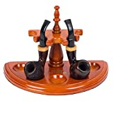 New Rosewood Wooden Smoking Pipe Stand Rack
