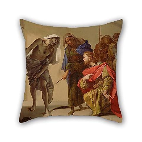 Loveloveu Oil Painting Bernardo Cavallino (Italian - The Shade Of Samuel Invoked By Saul Cushion Covers 18 X 18 Inches / 45 By 45 Cm Gift Or Decor For Sofa,teens Girls,saloon,office,bar,boy - Italian Mustard