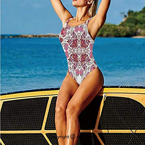 Springs Flora Vineyard - Swim-Suits,Colored Spring Inspired Blooming Flora,for Women