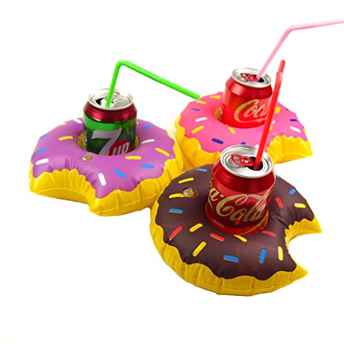 MS Donuts 3er-Pack Aufblasbare Pool-Party-Getränk Floats CJ512