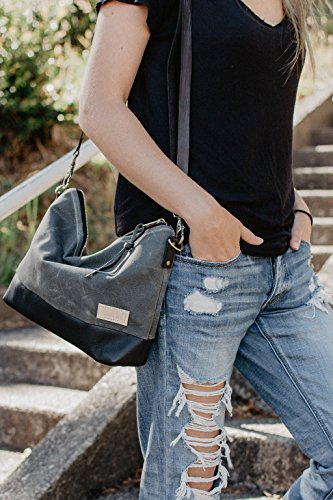 Alsea Crossbody in Waxed Canvas and Leather by Meant Manufacturing