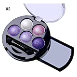 mineral fusion eye makeup remover - 5 Colors Pigment Eyeshadow Palette Eye Shadow Powder Metallic Shimmer Makeup Beauty Professional Make Up Warm Color Waterproof #5