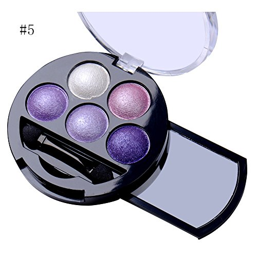 [5 Colors Pigment Eyeshadow Palette Eye Shadow Powder Metallic Shimmer Makeup Beauty Professional Make Up Warm Color Waterproof #5] (Drag Queen Costumes Nyc)