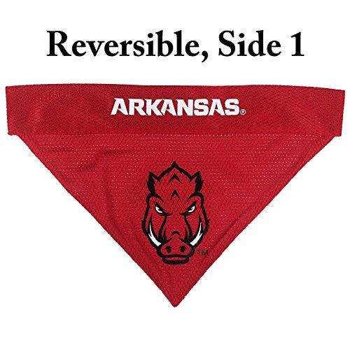 Arkansas Razorbacks NCAA Mesh & Premium Embroidery Dog Reversible Bandana (Arkansas Razorbacks, Small/Medium 9.5