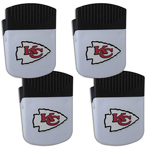 Siskiyou NFL Kansas City Chiefs Chip Clip Magnet with Bottle Opener, 4 Pack - Kansas City Chiefs Clip