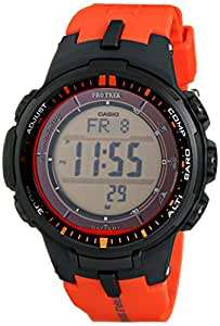 Casio Men's PRW-3000-4DR Pro Trek Digital Display Quartz Orange Watch