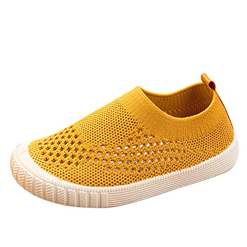 - CCFAMILY Toddler Infant Kids Baby Girls Boys Mesh Sport Running Sneakers Casual Shoes Yellow