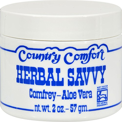 Country Comfort Herbal Savvy Comfrey Aloe Vera - 2 oz (Pack of (Herbal Savvy Salve)