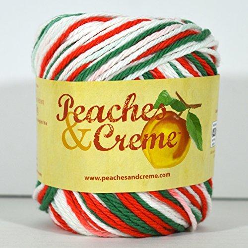 Cream Creme Cotton Yarn - Spinrite Peaches & Creme (Cream) Cotton Yarn Yuletide 2 oz
