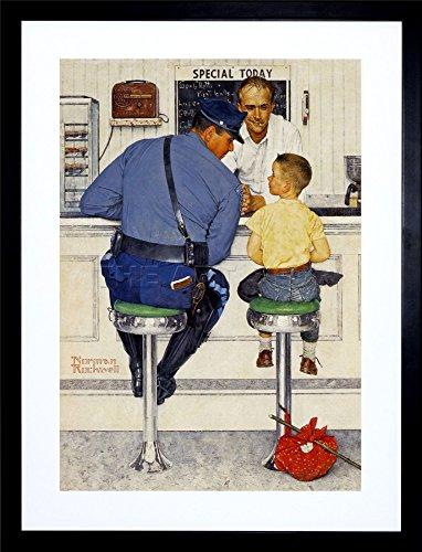 PAINTING GROUP COP POLICE DINER CHILD WAITER US ART FRAME PRINT PICTURE - Uk Police Glasses Frames