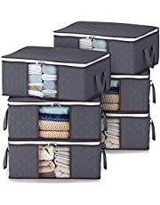 Lifewit Clothes Storage Bag Foldable Storage Bin Closet Organizer with Reinforced Handle Sturdy Fabric Clear Window for Sweaters, Coats, T-Shirts, Blankets