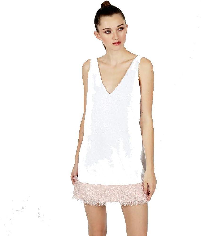 LE VOLIERE Vestito con Paillettes E Piume////Sequins /& Paillettes Dress