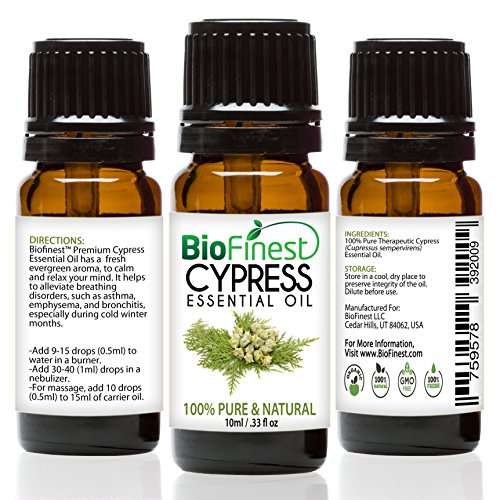 BioFinest Cypress Oil Therapeutic Aromatherapy