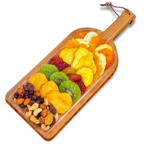 Vacaville Dried Fruit and Nut Gift Bamboo Board