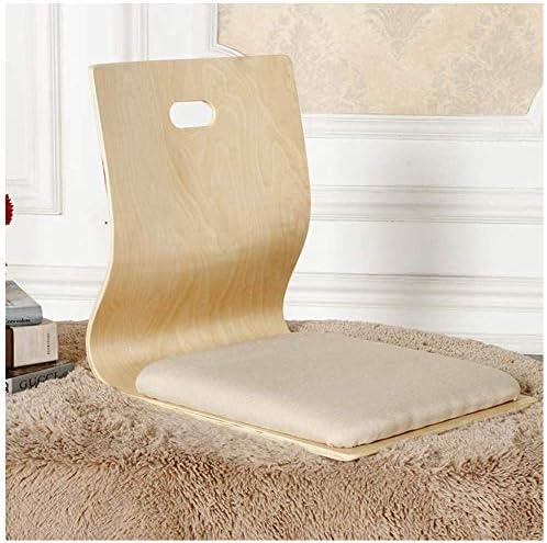 Houten tatami vloerstoel Lazy sofa spel meditatie vloer zitting met rugleuning legless stoel / L